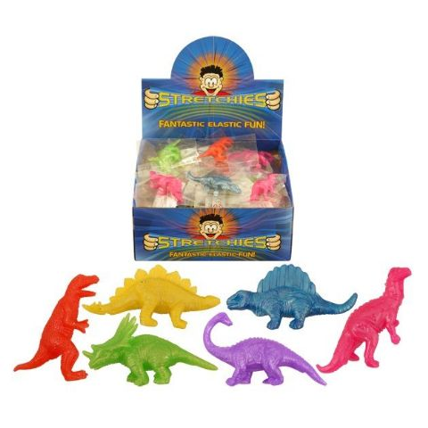 84 x Stretchy Dinosaurs - Stretchies Party Bag Fillers Favours Toys - Wholesale Bulk Buy
